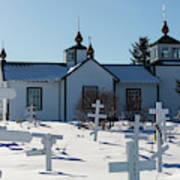 Russian Orthodox Church Ninilchik Alaska Art Print