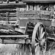 Rustic Horse Drawn Cart Art Print