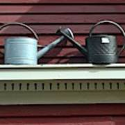 Rustic Watering Cans  Art Print