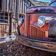 Rusty Old Truck In A Ghost Town In Arizona Art Print