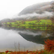 Rydal Water On A Misty Day In December Art Print