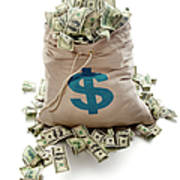 Sack Of Cash Art Print