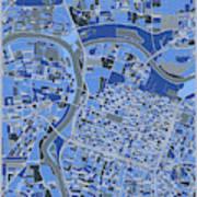 Sacramento Map Retro 5 Art Print