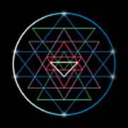 Sacred Geometry And Alchemy Symbol Sri Art Print