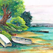 Safe Mooring-whangamata Harbour. Art Print