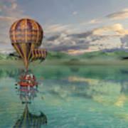 Sailing Away Daydream Steampunk Art Print
