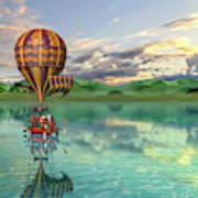 Sailing Away Daydream Steampunk Custom Art Print