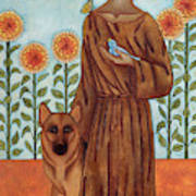 Saint Francis And The Wolf Of Gubbio Art Print