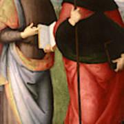 Saint John The Evangelist And Saint Augustine Art Print