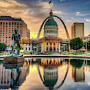 Saint Louis Skyline Morning Cityscape 1x1 Art Print
