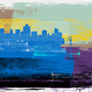 Salt Lake City Abstract Skyline II Art Print