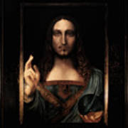 Salvator Mundi After Leonardo Da Vinci Art Print