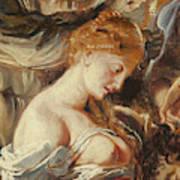 Samson And Delilah, Detail Of Delilah Art Print