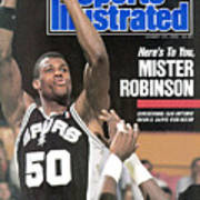 San Antonio Spurs David Robinson... Sports Illustrated Cover Art Print