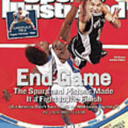San Antonio Spurs Tim Duncan, 2005 Nba Finals Sports Illustrated Cover Art Print