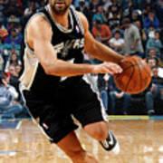 San Antonio Spurs V New Orleans Hornets Art Print