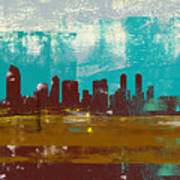 San Diego Abstract Skyline II Art Print