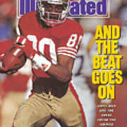 San Francisco 49ers Jerry Rice, 1990 Nfc Divisional Playoffs Sports Illustrated Cover Art Print