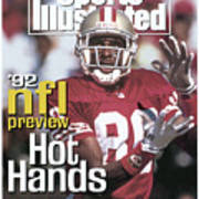 San Francisco 49ers Jerry Rice, 1992 Nfl Football Preview Sports Illustrated Cover Art Print