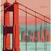 San Francisco Poster - Vintage Travel Art Print