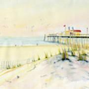 Sand Dunes At Ocean City Beach Maryland Art Print