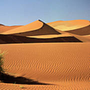 Sand Dunes In Namib Desert, Namibia Art Print