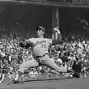 Sandy Koufax Pitching In World Series Art Print