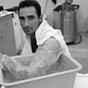 Sandy Koufax Soaking His Elbow In Ice Art Print
