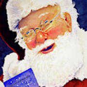 Santa Knows Art Print