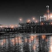 Santa Monica Glow By Mike-hope Art Print