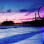 Santa Monica Pier With Ferris Wheel Art Print
