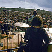Santana Onstage At Woodstock Art Print