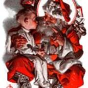 Santa's Lap Art Print