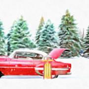 Santa's Other Sleigh Art Print