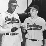 Satchel Paige Bob Feller Comparing Art Print