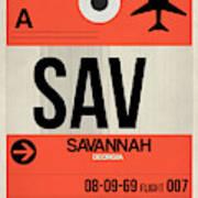 Sav Savannah Luggage Tag I Art Print