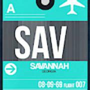 Sav Savannah Luggage Tag II Art Print