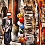 Scanno, Strada Abrami Art Print