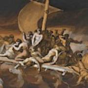 Scene Of Cannibalism For The Raft Of The Medusa Art Print