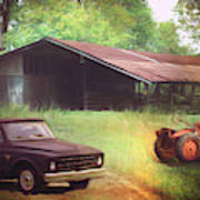 Scenes From The Past - Trucks And Tractors Art Print