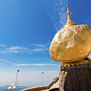 Scenic View Of Golden Rock Kyaiktiyo Art Print
