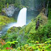 Scenic View Of Waterfall, Portland Art Print