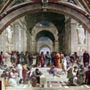 School Of Athens, C1510. Artist Raphael Art Print