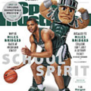 School Spirit 2017-18 College Basketball Preview Issue Sports Illustrated Cover Art Print