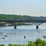 Schuylkill River View - Strawberry Mansion Bridge Art Print