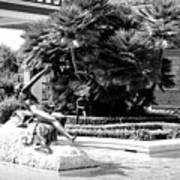 Sculpture Getty Villa Black White  Art Print