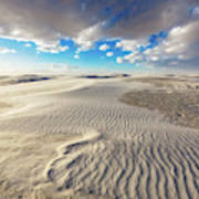 Sea Of Sand - Endless Dunes At White Sands New Mexico Art Print