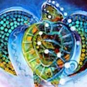 Sea Turtle Says Art Print