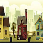 Seamless Neighborhood Art Print