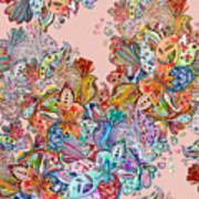 Seamless Texture With Colorful Crazy Art Print